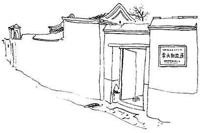 老北京街道手绘图