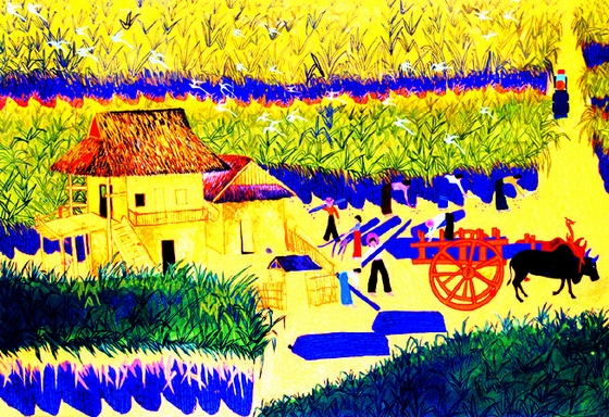 腾冲等地已被国家文化部授予为现代民间绘画