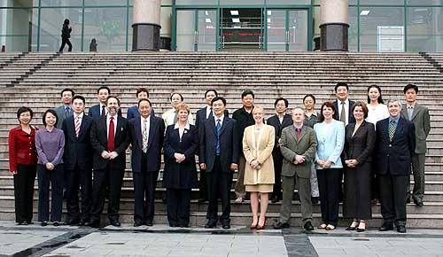 代表团访问郑州轻工业学院