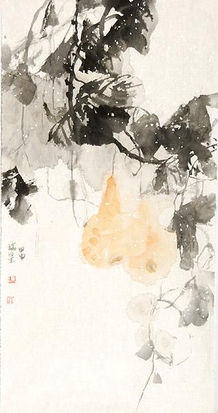 中国画荷花荷叶水墨画-荷之韵 国画