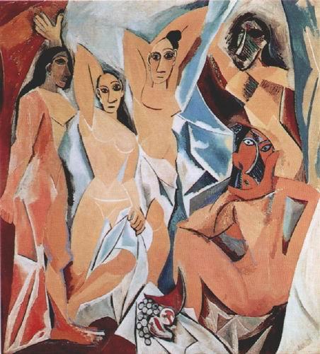毕加索几何抽象画作品