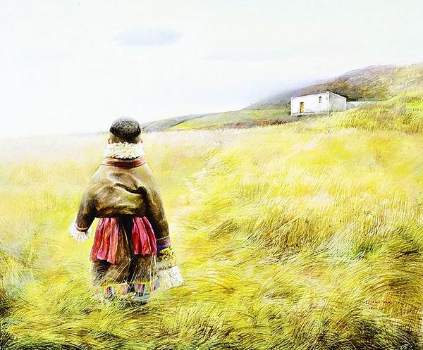 秋天的回忆-李晓刚的油画艺术