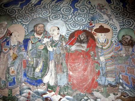榆林石窟壁画手绘