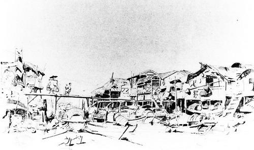 美洲建筑手绘图