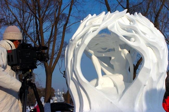 第十二届哈尔滨太阳岛国际雪雕比赛落幕(图)