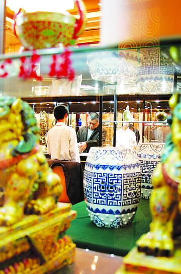 北京/1月20日,中拍国际在北京举办2007年迎春大型拍卖会,宋官窑、宋...
