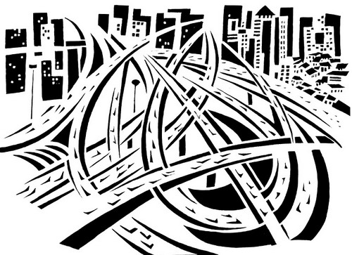卡通桥简笔画图片