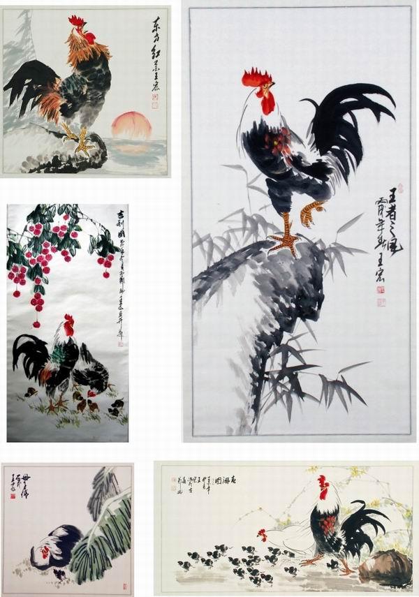 信息中心 国画《鸡5》   国画丝瓜和鸡的寓意春天来了,风更轻,云更淡
