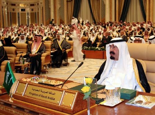 阿卜杜拉 李震摄/图为沙特阿拉伯国王阿卜杜拉在利雅得出席第三届欧佩克首脑会议...