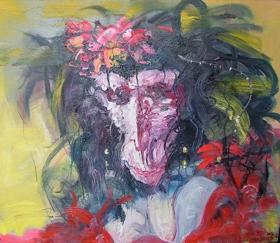 """流光溢彩--当代中国油画精品展 2007年7月画家村画廊""""当代油画展""""."""
