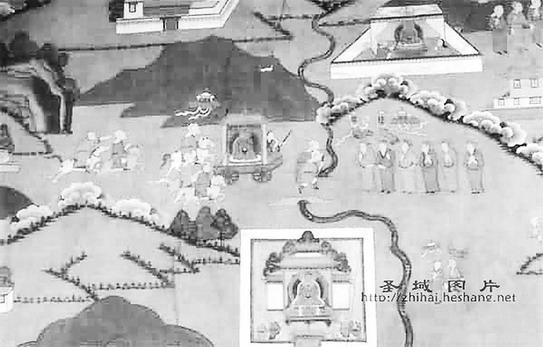 清布达拉宫壁画:《文成公主进藏图》