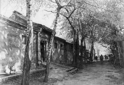 """机缘之三,与中国现代著名作家中那位生长在小羊圈胡同里的""""北京人民"""