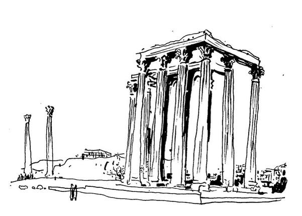 古希腊奥林匹亚遗址之宙斯神庙