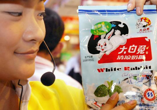 新大白兔奶糖将先在国内销售