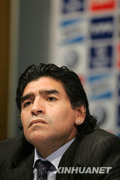 马拉多纳正式出任阿根廷队主教练