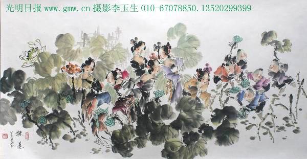 国画大师梁永和新红楼梦群谱图