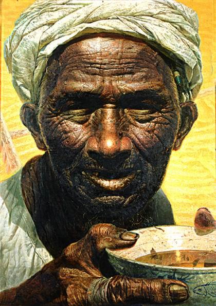 与中国农民结盟的艺术家--罗中立油画 - 石墨閣藝術長廊 - 石墨閣藝術長廊--雨濃的博客