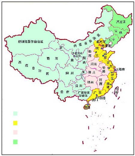 西部十二省区东部十省市中部六省东北三省.图片来源:资料图片图片