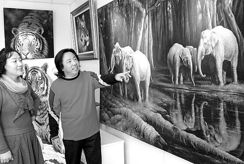 动物肖像画家(图)_光明日报