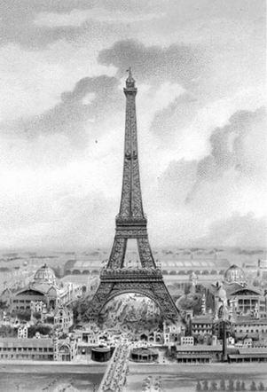 埃菲尔铁塔就是为该届世博会而建造的