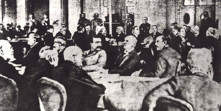 巴黎和会三巨头_顾维钧在1919年巴黎和会上拒签对德和约图片