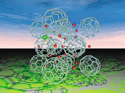 金属原子铯(cs)和巴基球(碳原子