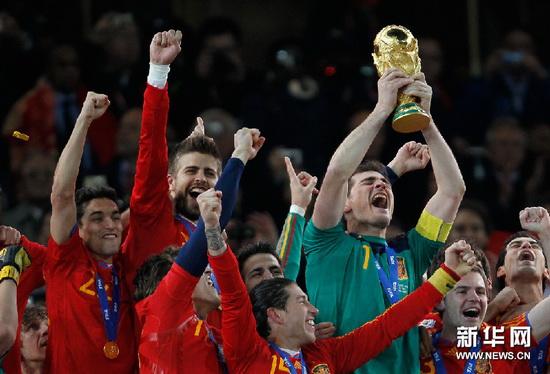 西班牙夺得世界杯冠军[组图]