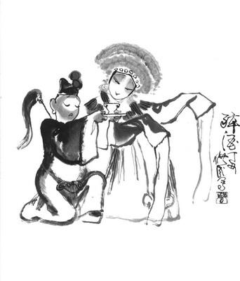 戏剧人物画_书摘_光明网